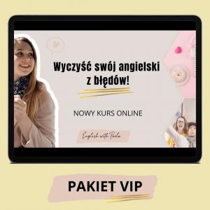 Kurs Wyczyść swój angielski z błędów PAKIET VIP